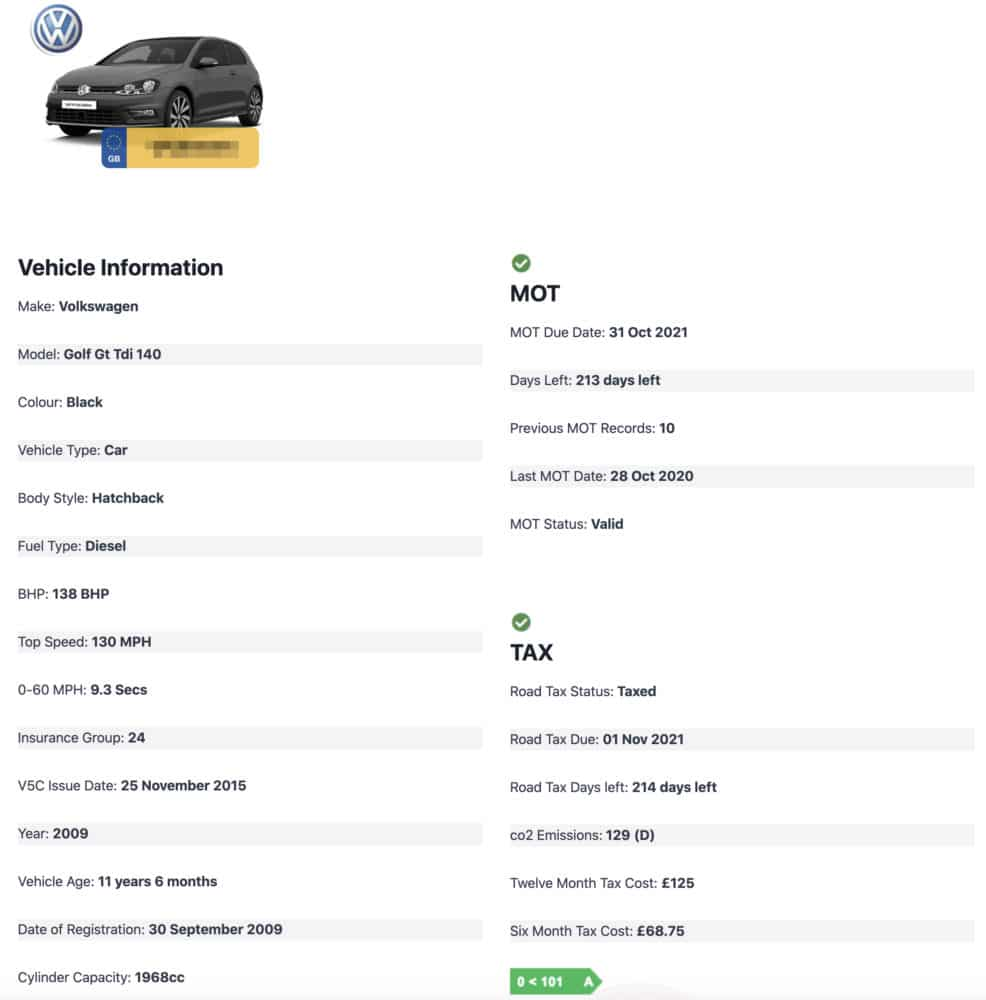 Vehicle Check Report Part 1